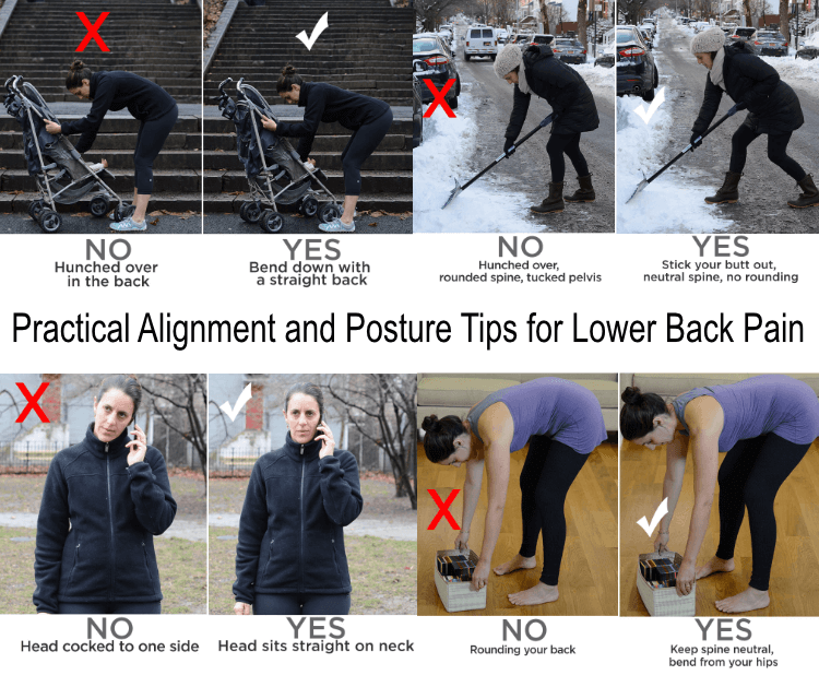 low back pain posture tips